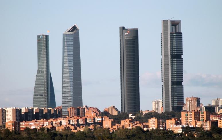 Cuatro Torres Business Area in Madrid (Spain).