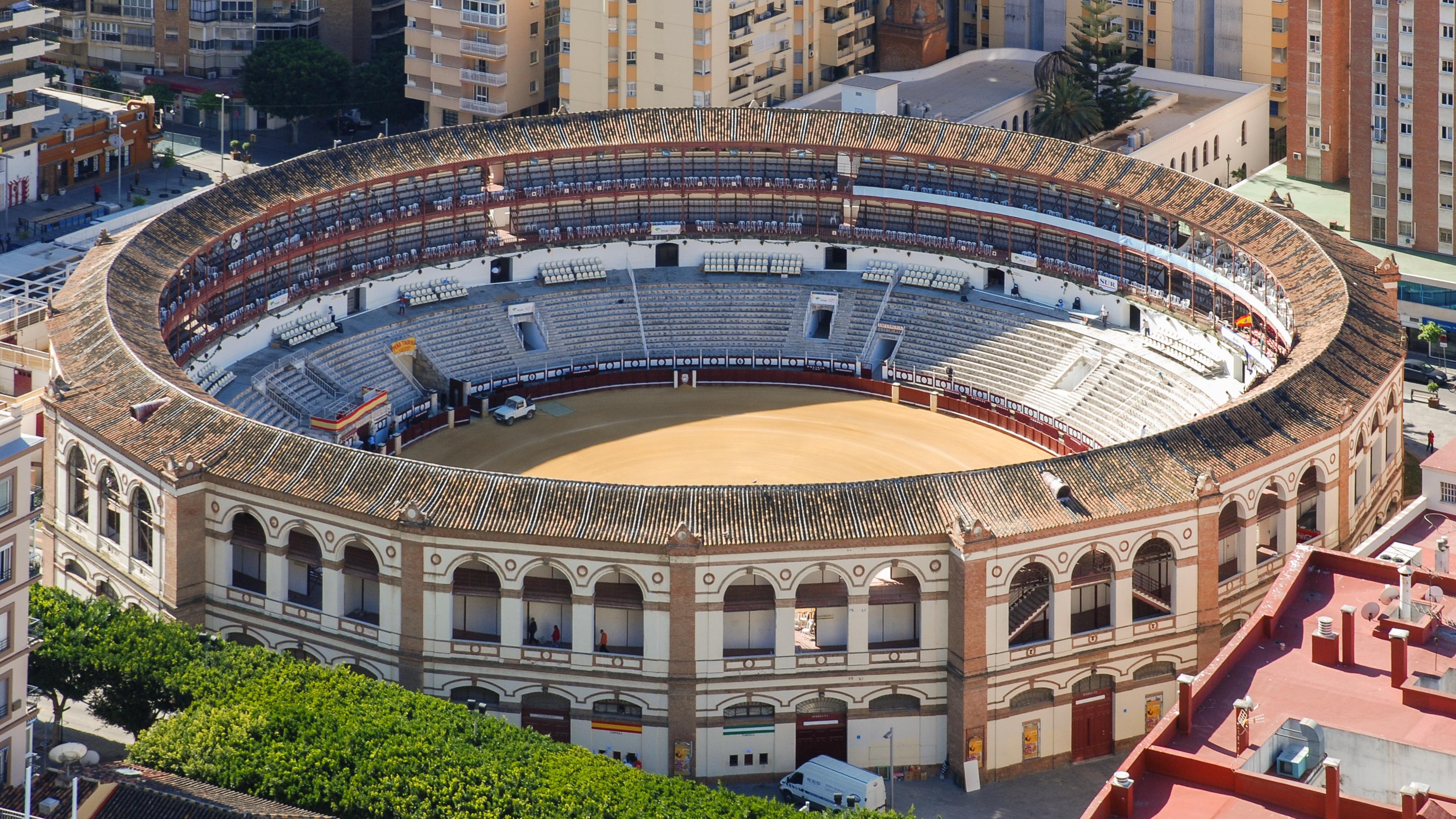 Plaza de toros de La Malagueta, Malaga, North view