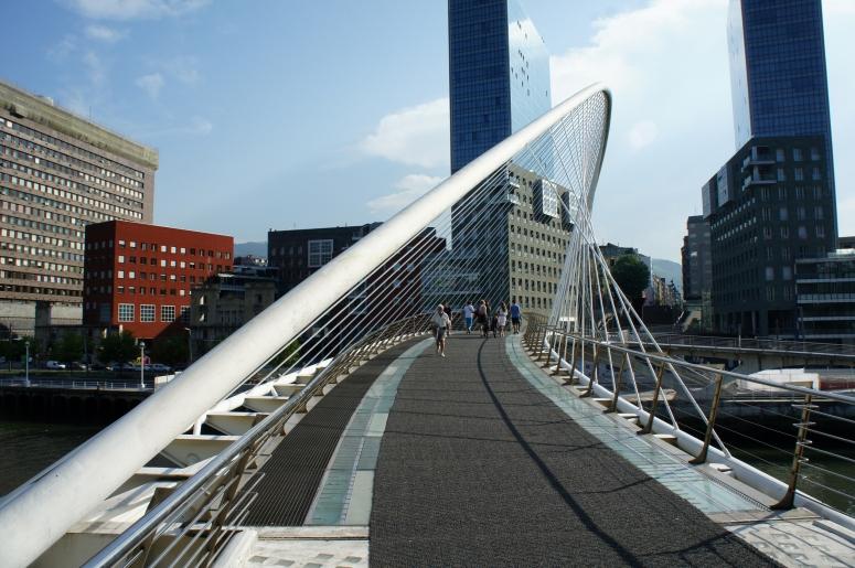 Zubizuri bridge in Bilbao