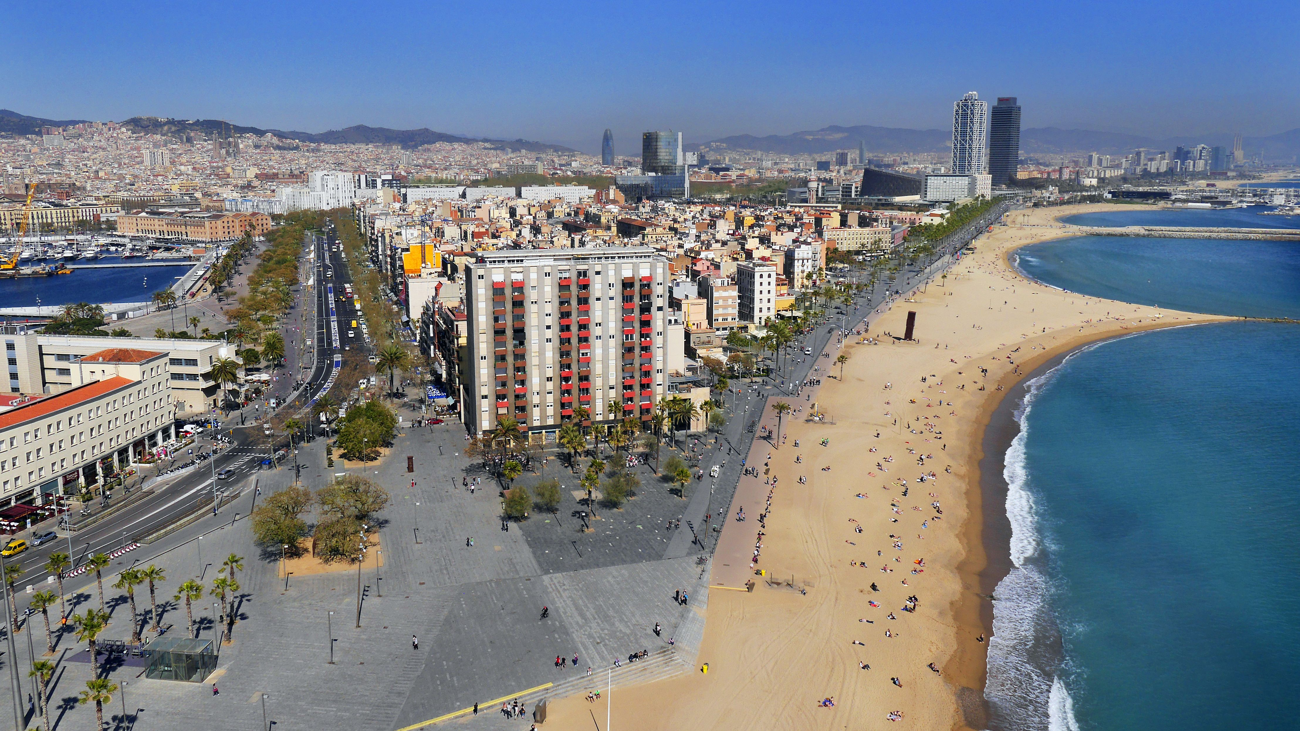 Vista parcial de Barcelona